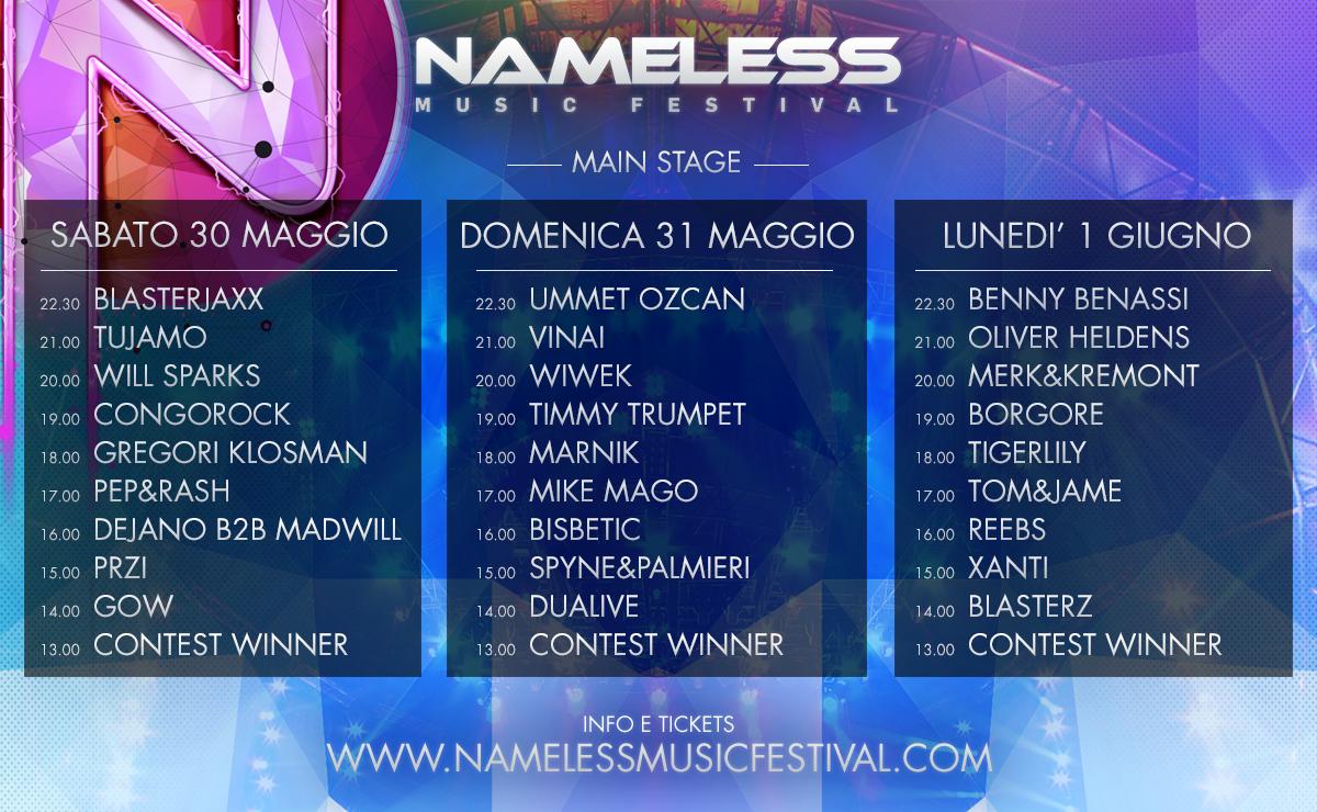 nameless lineup
