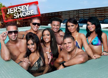 "I ""tamarrissimi"" protagonisti del reality show Jersey Shore."