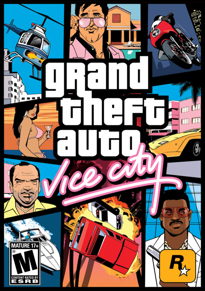 L'iconica cover di GTA: Vice City.